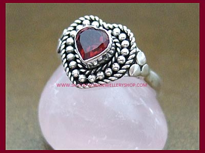 Garnet Love Charm Ring **MORE STOCK SOON**
