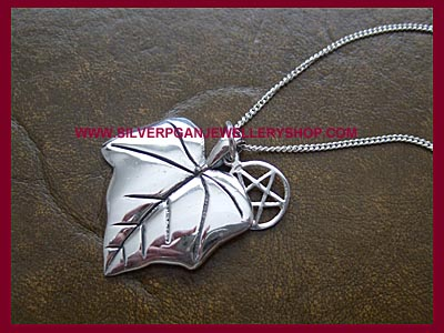 Ivy Leaf and Pentagram Necklace
