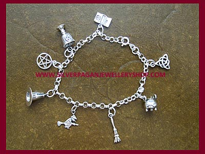 Pagan Charm Bracelet - 8 Charms, 3 Bracelet Lengths