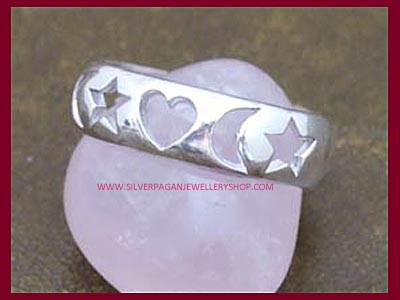 Moons, Hearts & Stars Ring