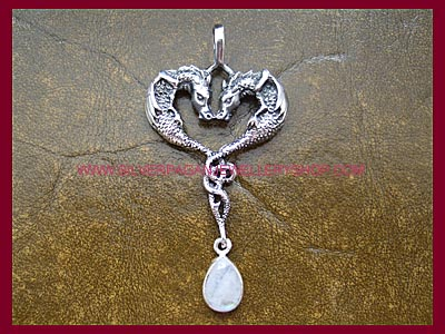 Rainbow Moonstone Draco Dragon Pendant **MORE SOON**