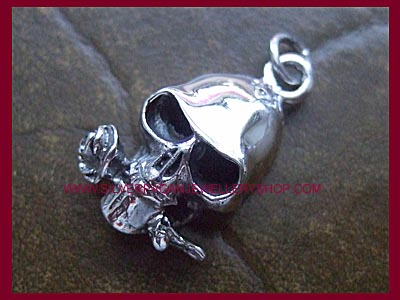 Skull & Rose Pendant - Click Image to Close