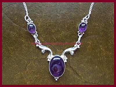 Black Magic Necklace - Amethyst
