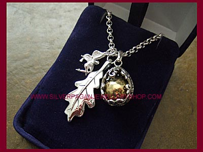Fairy, Oak Leaf & Angel Caller Necklace * QUICK, ONLY 1 LEFT! *