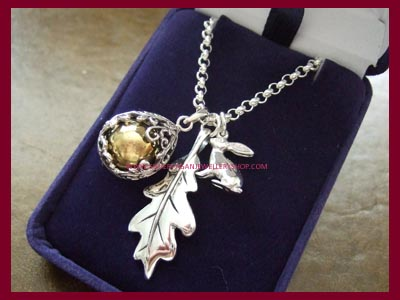 Hare, Oak Leaf and Angel Caller Necklace **QUICK - ONLY 1 LEFT**