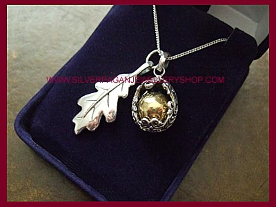 Angel Caller & Oak Leaf Necklace