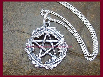 Oak Leaf Pentacle Pendant Necklace