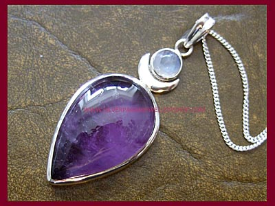 Amethyst & Moonstone High Priestess Pendant - MORE STOCK SOON