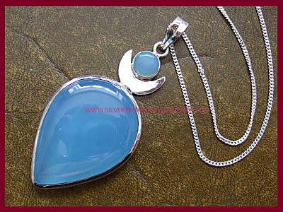 Blue Chalcedony High Priestess Pendant - *MORE STOCK SOON*
