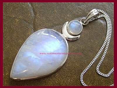 Rainbow Moonstone High Priestess Pendant