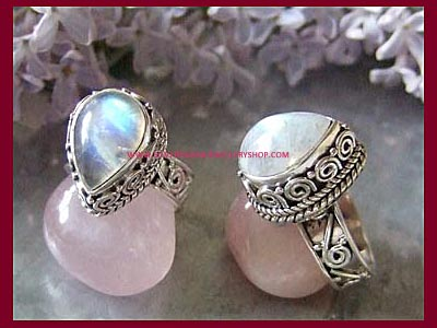 Aurora Ring - Rainbow Moonstone **MORE STOCK SOON **