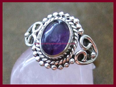 Amethyst Dark Moon Ring