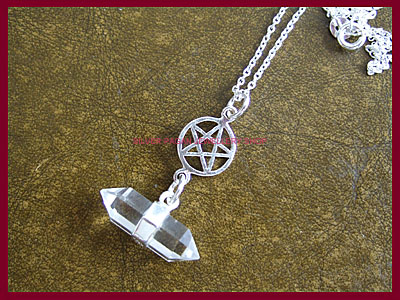 Quartz Crystal and Pentagram Necklace