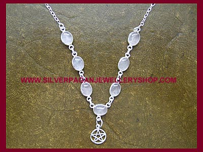 Rose Quartz Pentagram Necklace