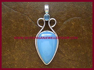 Blue Chalcedony Goddess Pendant *MORE SOON*