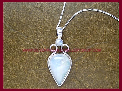 Rainbow Moonstone Goddess Pendant