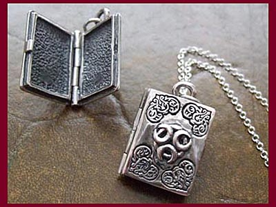 Triple Moon Book of Shadows Locket Pendant