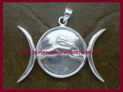 Triple Moon and Hare Pendant